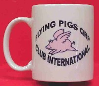 Flying Pigs QRP Coffee Mug
