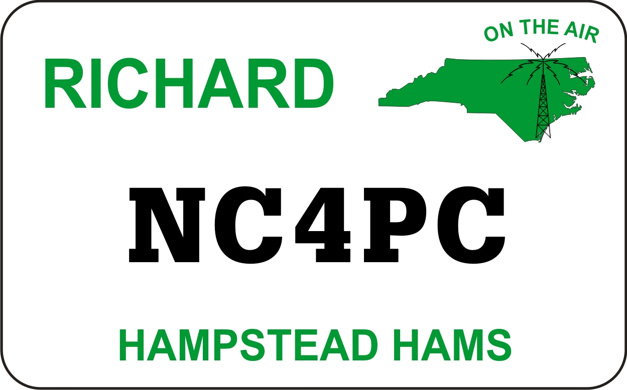 Hampstead Hams Name Badge