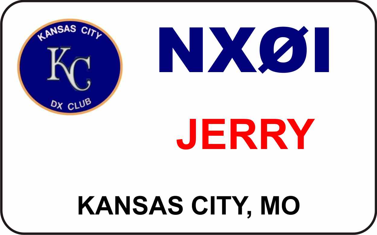 Kansas City DX Club Name Badge