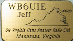 Ole Virginia Hams Amateur Radio Club Name Badge