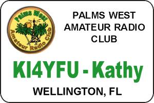 Palms West ARC Name Badge