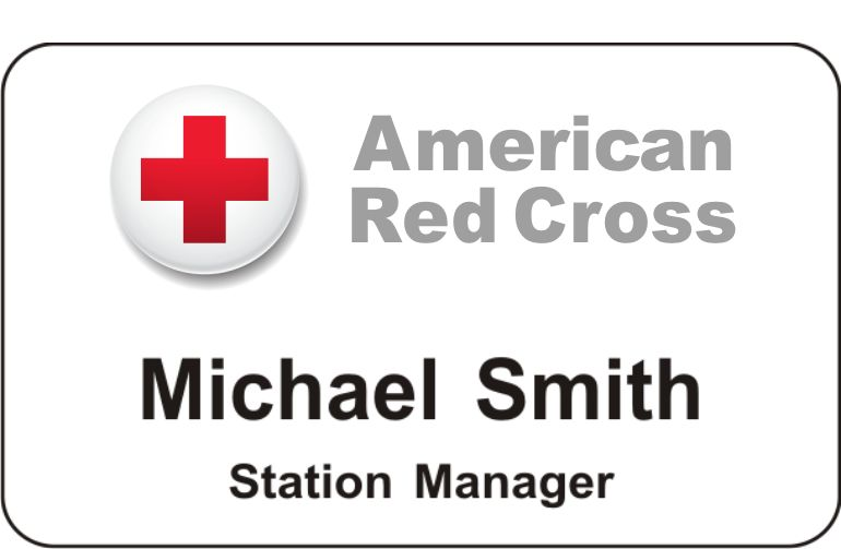 American Red Cross Ball Logo Badge
